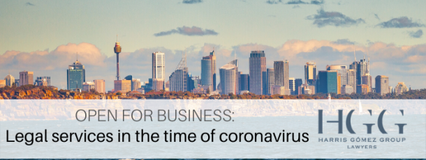 Open for Business: Legal services in the time of coronavirus