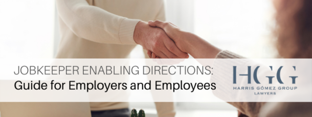 JobKeeper Enabling Directions: Guide for Employers and Employees