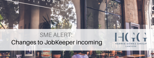 SME Alert: Changes to JobKeeper incoming